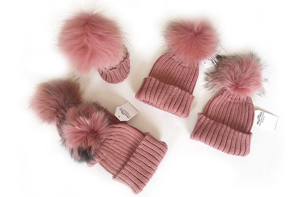 ROSE MALLA - Beanie with Pom Pom - 2 sizes available: BABY, KIDS&MUM