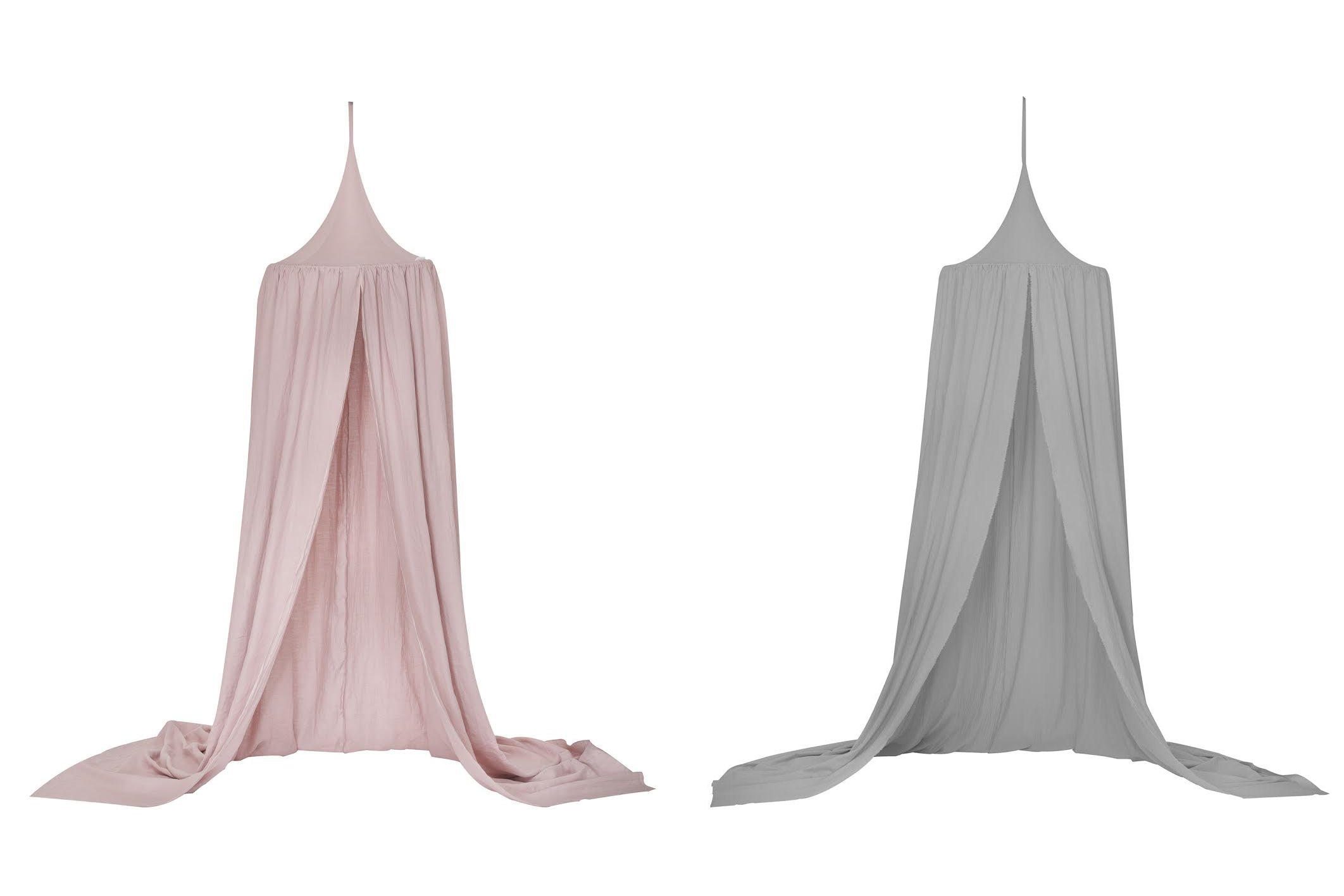 Linen Canopy: Colours available: Pink, chestnut, white - handmade in Poland