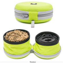 Load image into Gallery viewer, Truelove Collapsible 2 Way Use Dog Bowl Double for Food Mat Travel Waterproof Foldable Running Walking Hiking Camping