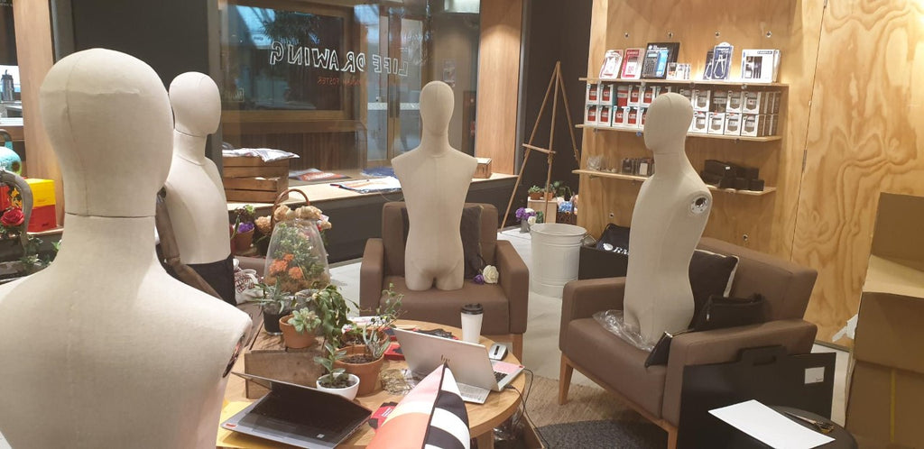 New Mannequins have arrived in the Campus Store...