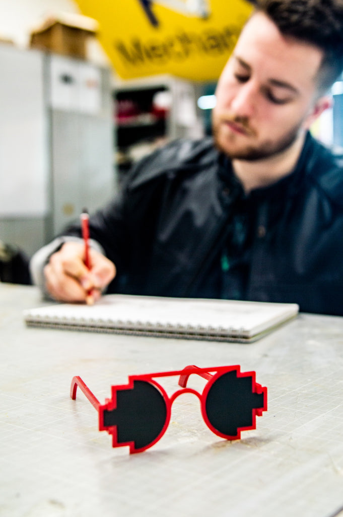 Meet the Pixel Sunglasses + Ryan (the student designer)