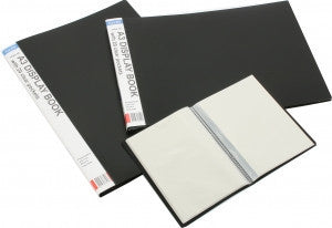 A3 20 POCKET P/P OBLONG DISPLAY BOOK BLACK