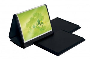 A3 EASEL DISPLAY BOOK 20 POCKET BLACK P/P