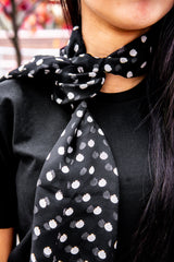 956776f33aea2 Wrap - fold your scarf in half and then wrap around you forehead. Tie  underneath your hair at the base of your neck. Pull back from forehead  slightly. BAM!