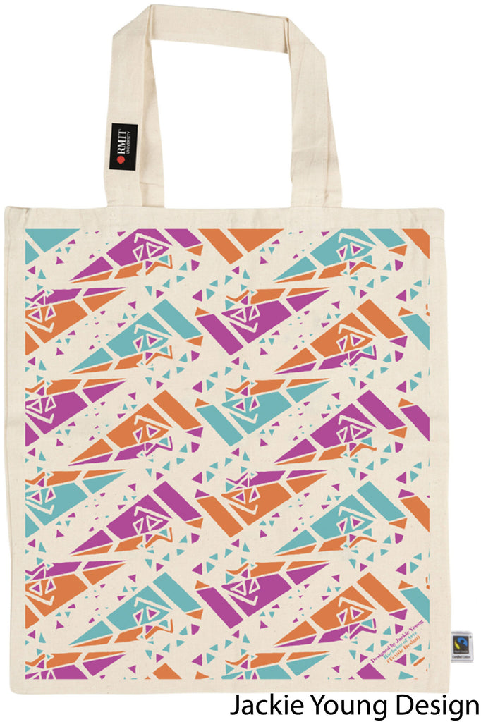 Fair Trade RMIT Student Designed Calico Tote