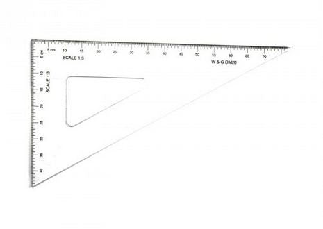 RULER DM20 - SET SQUARE- SCALE 1:3 30/60 DEG