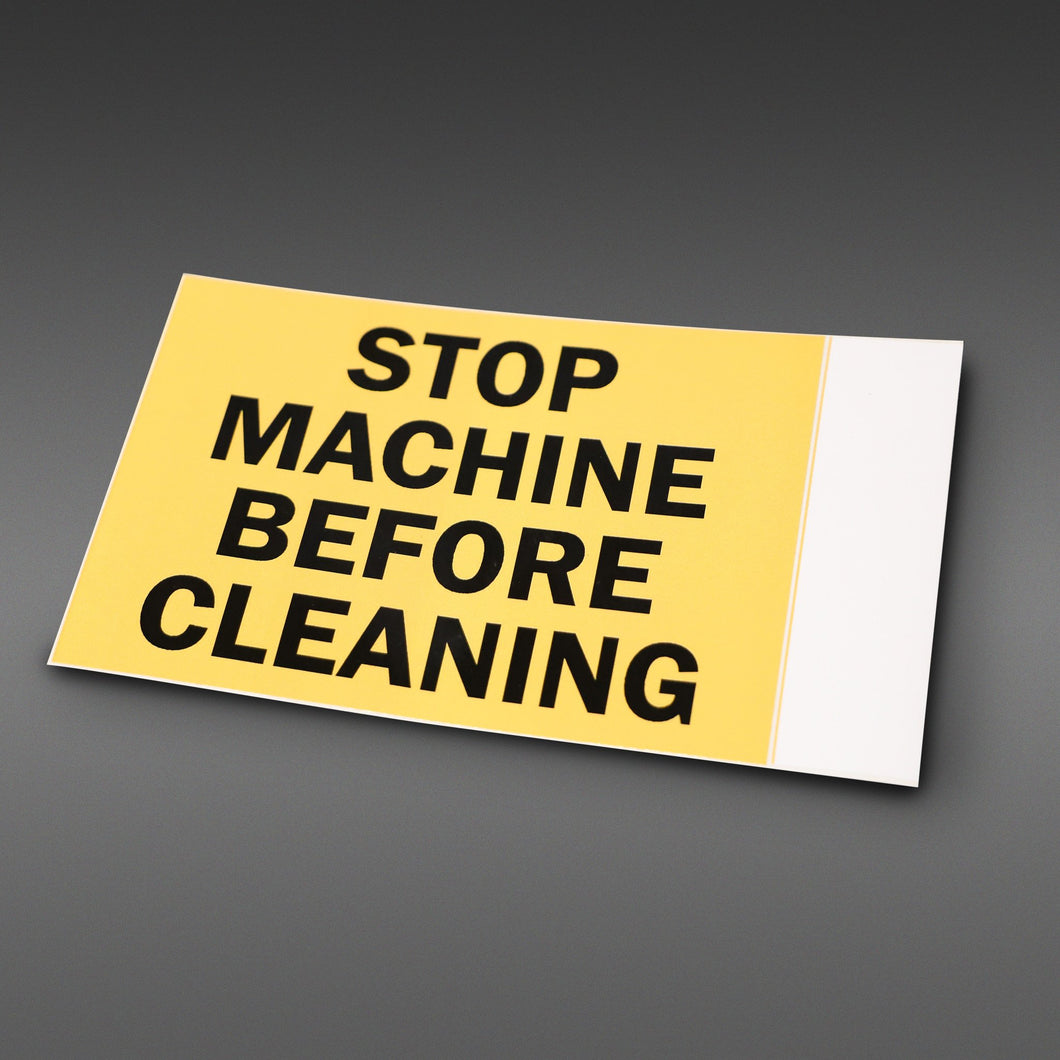 Stop Machine Safety Sticker
