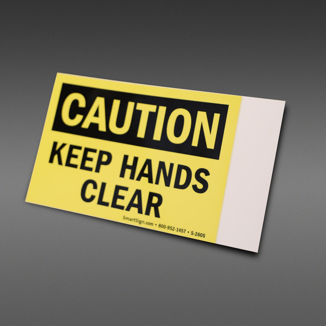 Hands Clear Safety Sticker