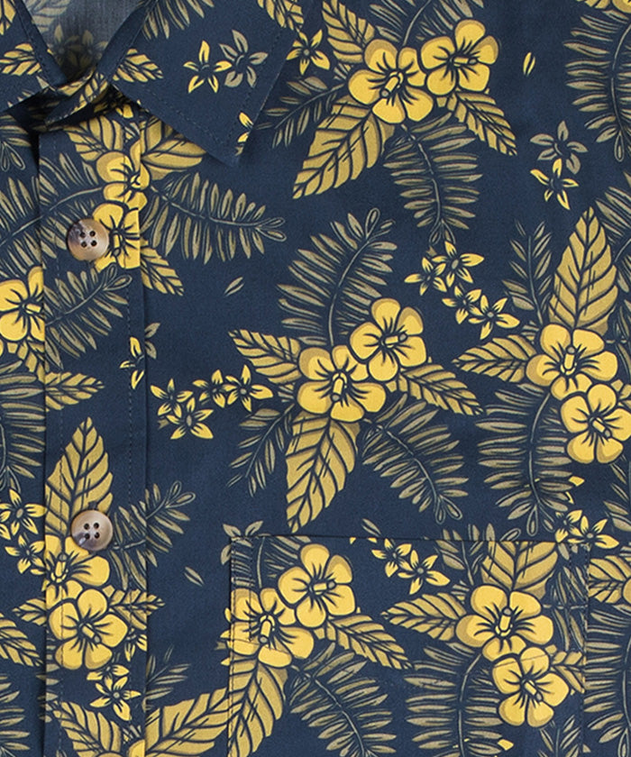 Yellow Flowers on Blue 18