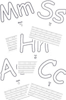 Alphabet Coloring Pages and Writing Practice