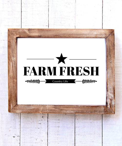 """Farm Fresh country Life"" Printable Wall Art"