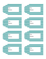 Striped Printable Gift Tags Volume 1  {11 different patterns - 88 Tags}