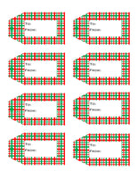 Christmas / Holiday Printable Gift Tags  {10 different patterns - 80 Tags}
