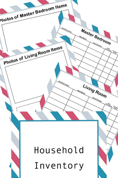 Household Inventory Binder