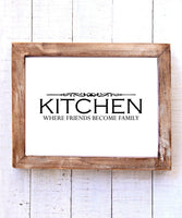 """Kitchen Where Friends Become Family"" Printable Wall Art"