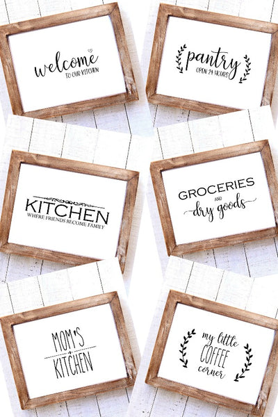 Kitchen Wall Art Bundle {$33 Value}