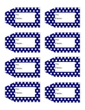 Polka Dot Printable Gift Tags {12 different colors - 96 Tags}