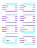 Striped Printable Gift Tags Volume 2  {11 different patterns - 88 Tags}