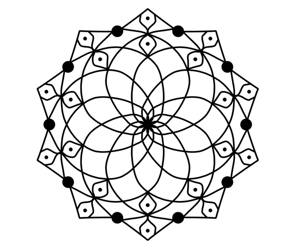 Intermediate Mandala Coloring Pages Vol. 1