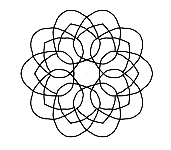 Intermediate Mandala Coloring Pages Vol. 2