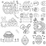 Easter Coloring Book {10 pages}