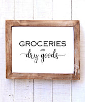 """Groceries and Dry Goods"" Printable Wall Art"