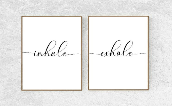 """Inhale Exhale"" Printable Wall Art"
