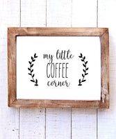 """My Little Coffee Corner"" Printable Wall Art"