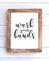 """Wash Your Hands"" Printable Wall Art"