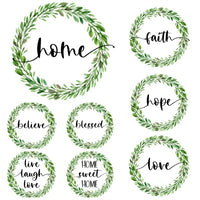 Farmhouse Wreath Printable Wall Art Bundle {30 pages}