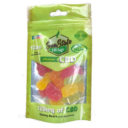 SunState Vegan CBD Gummy Bears 180mg (12 Pieces)