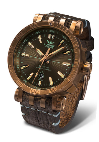 Energia Automatic Bronze 1575O285 with leather strap