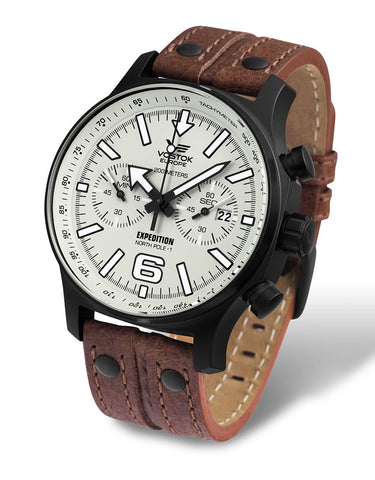 on brown leather strap