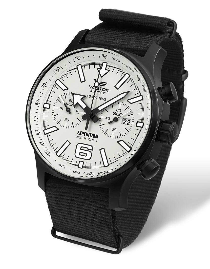 on black nato style nylon strap