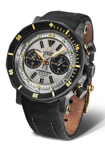Lunokhod-2 Chrono 1620E277 with leather strap