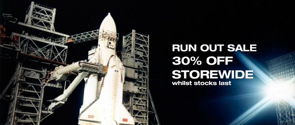 30% discount in runout sale whilst stocks last