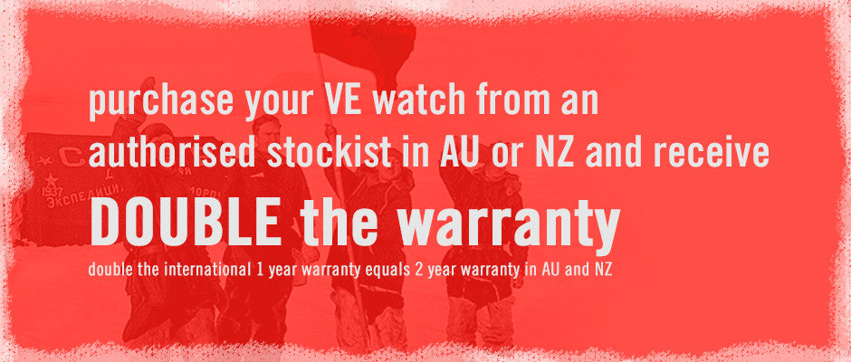 double the international warranty for watches purchased from Australian and New Zealand authorised stockists
