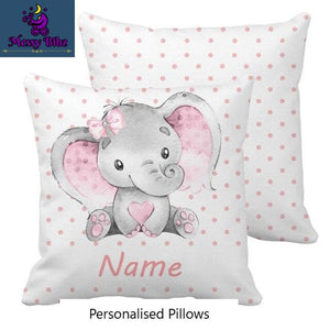 Baby Elephant - Personalised Pillow