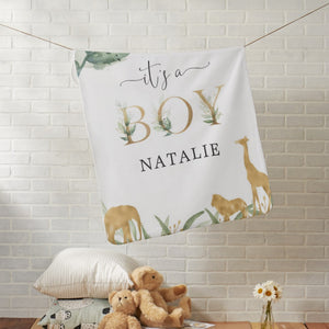 Baby Surprise Blankets - Personalised Name - 2 Styles
