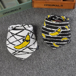2 Piece Set Designer Dribble/Eating Bib - Banana