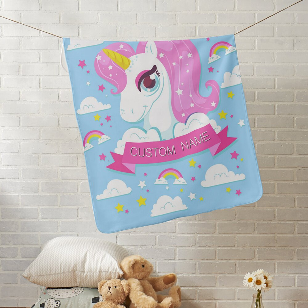 Personalised Unicorn Blanket