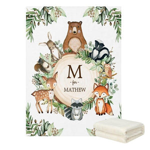 Personalised Jungle Theme Blanket - 4 Styles