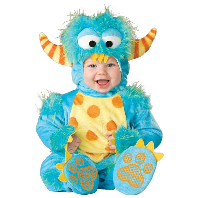 Blue Monster Onesie (3 Piece Set)