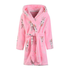Ultra Soft Kids Robes - Pink Rabbit