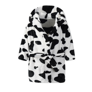 Ultra Soft Kids Robes - Cow