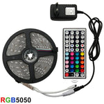 LED Strip Light RGB 5050 SMD 2835 Flexible Ribbon fita + Remote Control +Adapter