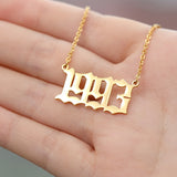 Personalized Year Number Custom Necklaces Pendants For Women