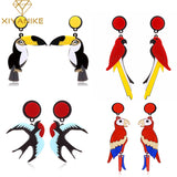 Acrylic Parrots Drop Earrings For Women
