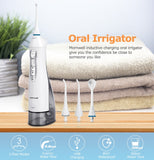 Oral Irrigator USB Rechargeable Water Flosser Portable Dental Water Jet 300ML