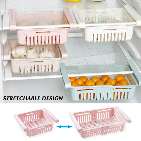 Adjustable Stretchable Refrigerator Organizer Drawer